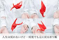 人生は戻れないけど…何度でも元に戻る折り鶴